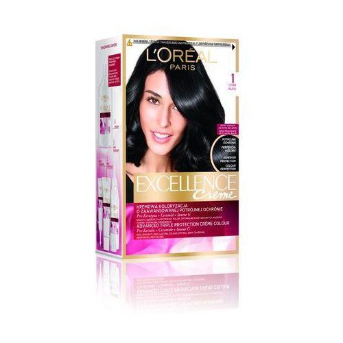 L'Oreal Paris, Excellence Creme. Farba do włosów, 01 Czerń, 192ml - L'Oreal Paris