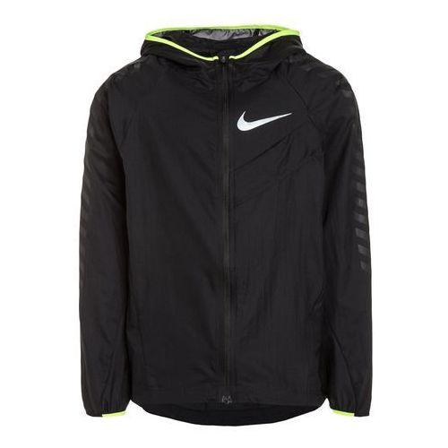 Nike Performance IMPOSSIBLY LIGHT GFX Kurtka do biegania black/volt/reflective silver, 856083