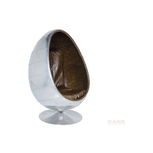 Fotel obrotowy Soho Eye Ball Alu Brown Leather by , marki Kare Design do zakupu w ExitoDesign