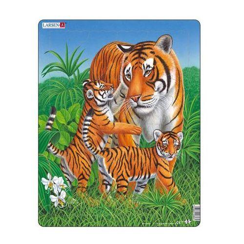Neuveden Puzzle maxi - tygřice s malými tygry/23 dílků