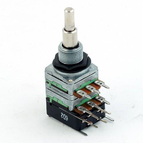 MEC 16 mm Potencjometr gitarowy R1=B 10 K-cc-R2=B 250 K-DPDT switch