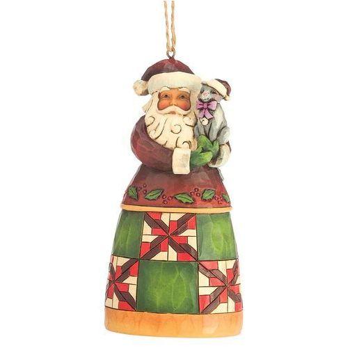 Jim shore Zawieszka mikołaj z kotkiem santa with cat hanging ornament 4047785 figurka ozdoba świąteczna