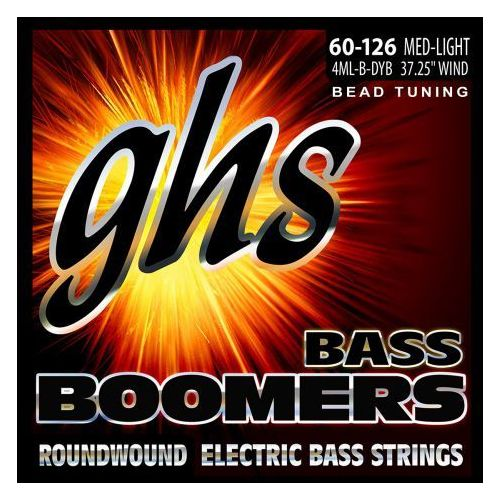 bass boomers struny do gitary basowej 4-str. medium light,.060-.126, bead tuning marki Ghs