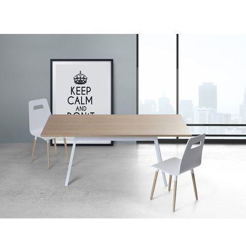 Stół biały - 180 cm - kuchenny - do jadalni - FLOW (7081451477934)