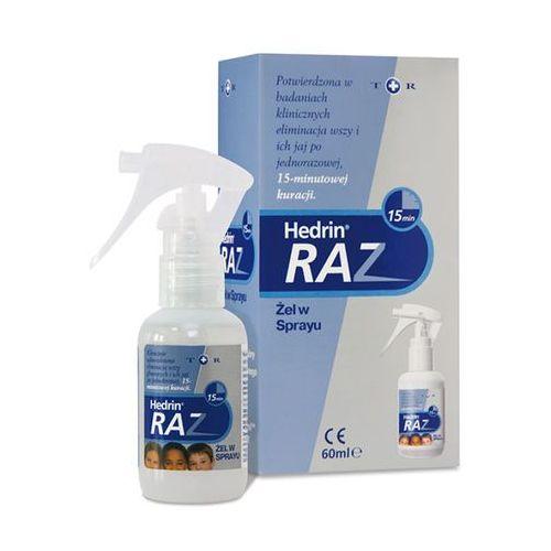 Hedrin raz żel w sprayu przeciw wszawicy 60 ml, postać leku: spray
