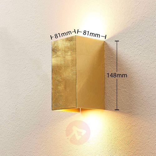 Złota lampa ścienna Tabita z metalu, 2-pkt. (4251096518658)