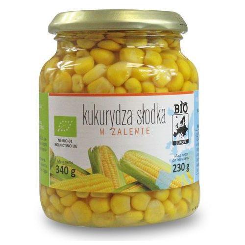 Bio europa (strączkowe, kukurydza w puszkach, miód Kukurydza słodka w zalewie w słoiku bio 340 g (230 g) - bio europa (5902175866083)
