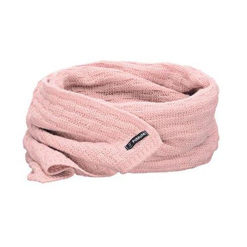 Zimowy szalik damski - pudrowy róż - pudrowy róż marki Pamami