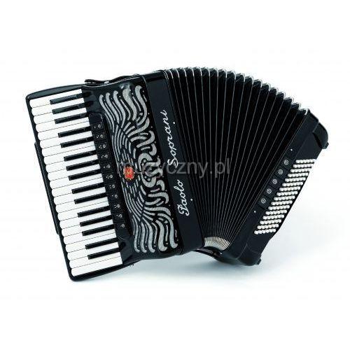 super paolo 37/96 cassotto (2+2) 37/4/11+m 96/5/5 piccolo akordeon (czarny) marki Paolo soprani