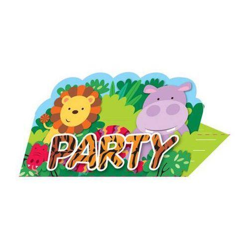 Zaproszenie urodzinowe Party w Dżungli - 8 szt. (0013051735753)