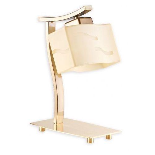 Sona lampka biurkowa 1 płomienny połysk mosiądz + złoty perłowy - sprawdź w Lampalandia