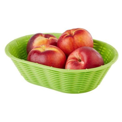 Koszyk owalny do chleba lub owoców 230x170x65 mm, zielony | , wicker look marki Aps