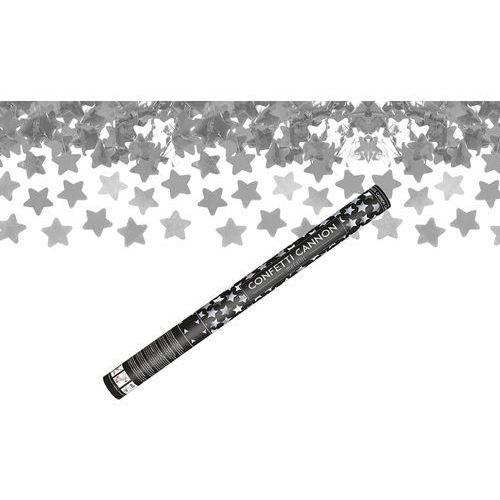 Ap Tuba strzelająca - srebrne gwiazdki metaliczne - 60 cm - 1 szt. (5901157474940)