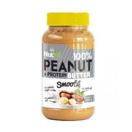 nutvit 100% peanut + protein butter smooth - 500g marki Ostrovit