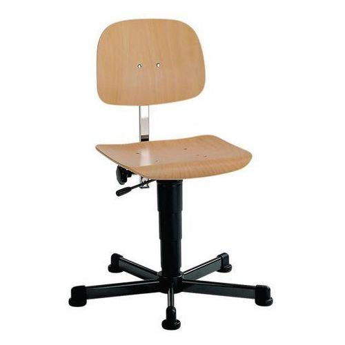 Obrotowe krzesło do pracy,na ślizgaczach, zakres regulacji wysokości 430 - 600 mm