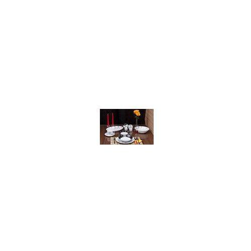 Ćmielów Quebec - Serwis obiadowo-kawowy 36 części na 6 osób Zegar E722 - sprawdź w serwisy-obiadowe24.pl