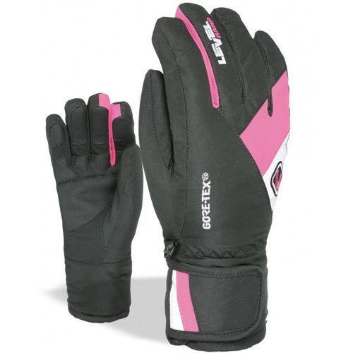 LEVEL Dziecięce rękawice narciarskie Force L czarny/różowy, kolor różowy
