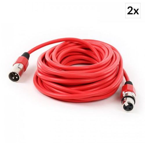 Kabel xlr komplet 2 sztuki 10mczerwony męski / żeński marki Frontstage