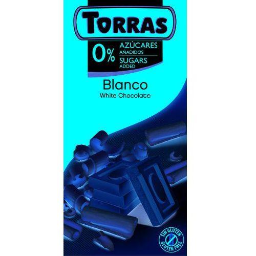 Torras Czekolada biała bez dodatku cukru 75g (8410342005618)