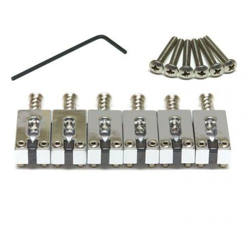 Graphtech PG-8000-0C String Saver, siodełka mostka Classics Import Strat, 6-strun, chromowane