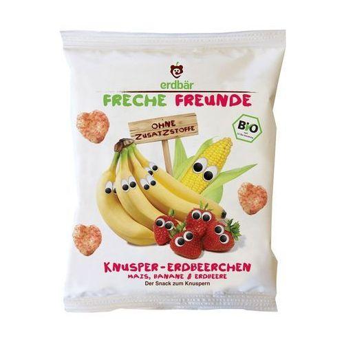 Chrupki Kukurydziane Bananowo-Truskawkowe 25g EKO Erdbar Dla Dzieci