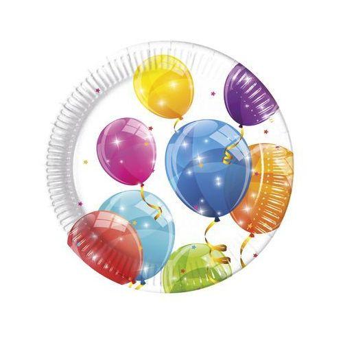 Procos Talerzyki urodzinowe błyszczące baloniki - 23 cm - 8 szt.