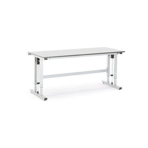 Elektrycznie regulowany stół roboczy motion obciążenie 400 kg 2000x800 mm szary marki Aj