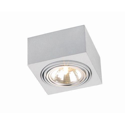 Plafon sufitowy oprawa prostokątny metalowy Argon Rodos 48W G9 srebrny 347 + żarówka GRATIS (5908259941516)
