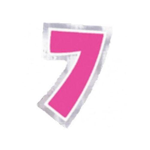 """Naklejka na balon, cyfra """"7"""" - 6 szt marki Amscan"""