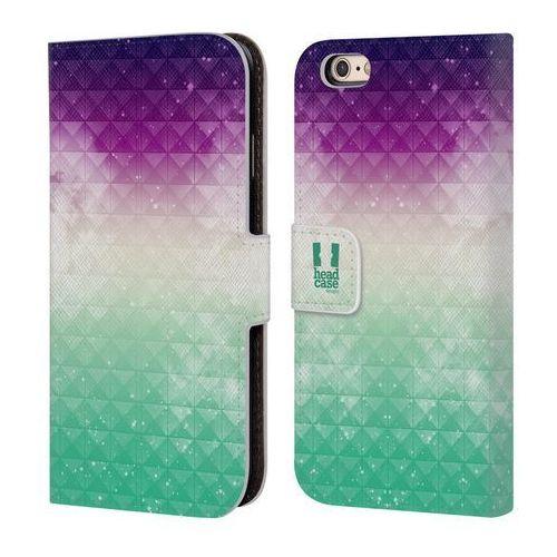Etui portfel na telefon - Studded Ombre Printed Purple Sky Over Green Mist