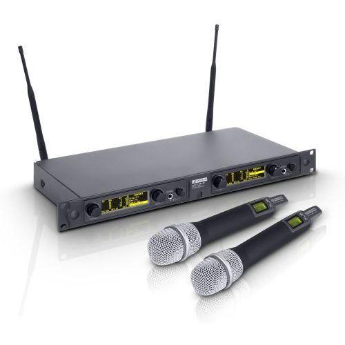 Ld systems win 42 hhd 2 b 5 mikrofon bezprzewodowy doręczny, podwójny