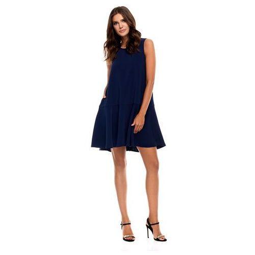Sukienka Camma w kolorze granatowym, kolor niebieski