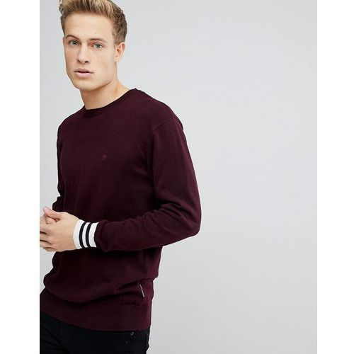 French Connection Crew Neck Knitted Jumper with Contrast Cuff - Navy