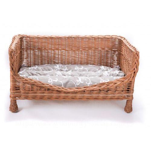 Wiklinowa sofa dla zwierząt, ławka, kanapa z poduszką, 8501-k00