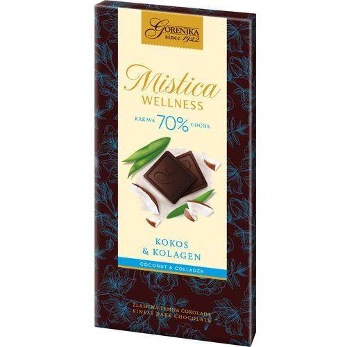 MISTICA WELLNESS czekolada gorzka 70% z kolagenem i kokosem (3838902409235)