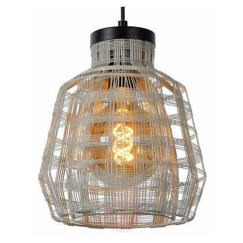 Lucide Fiona 02406/01/36 Lampa wisząca zwis oprawa 1x60W E27 szara/czarna, 02406/01/36
