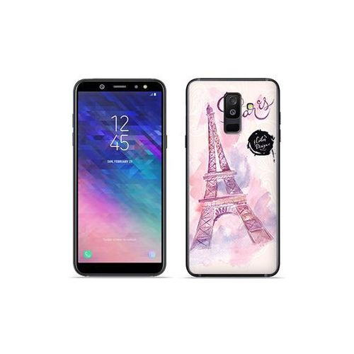 Etuo fantastic case Samsung galaxy a6 plus (2018) - etui na telefon fantastic case - różowa wieża eiffla