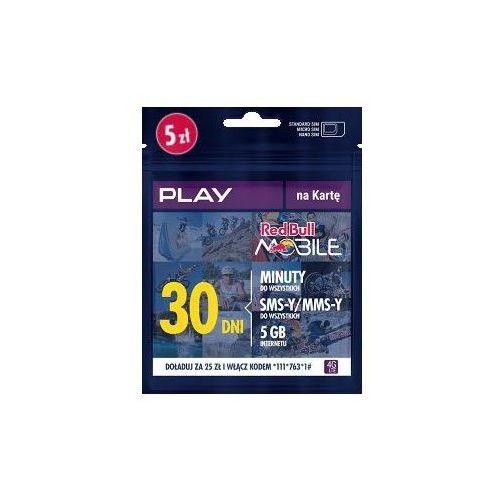 Starter red bull mobile energy na kartę 5 pln marki Play