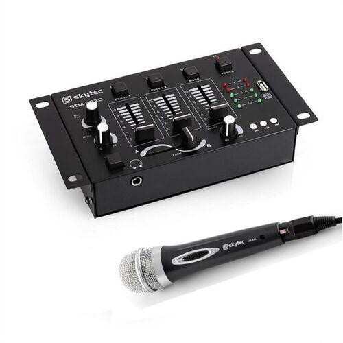 Electronic-Star Mini DJ Set, 1 x 3/2-kanałowy mikser, 1 x mikrofon ręczny