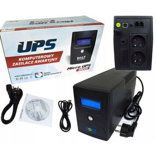 UPS ZASILACZ AWARYJNY BATERIA LCD+ PROGRAM 600W