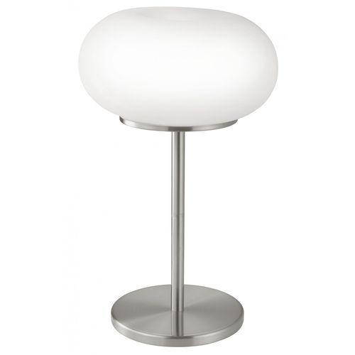 EGLO 86816 - Lampa stołowa OPTICA 2xE27/60W biały/opalone szkło