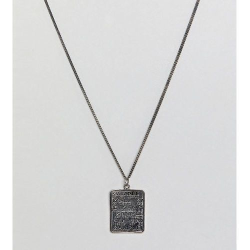 Reclaimed vintage inspired dog tag in sterling silver exclusive to asos - silver