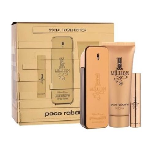 Paco rabanne 1 million woda toaletowa 100 ml + woda toaletowa 10 ml + żel pod prysznic 100 ml