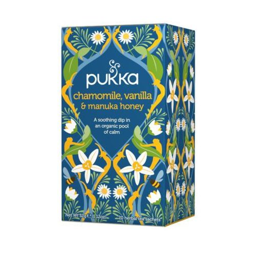 Pukka 20x1,6g chamomile vanilla & manuka honey herbata naturalnie aromatyzowana bio marki Unilever