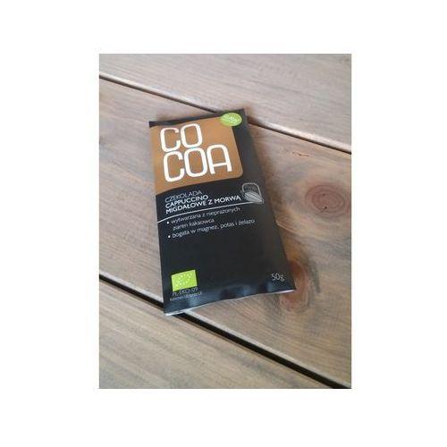 czekolada cappucino migdałowe z morwą bio50g-cocoa, 4278