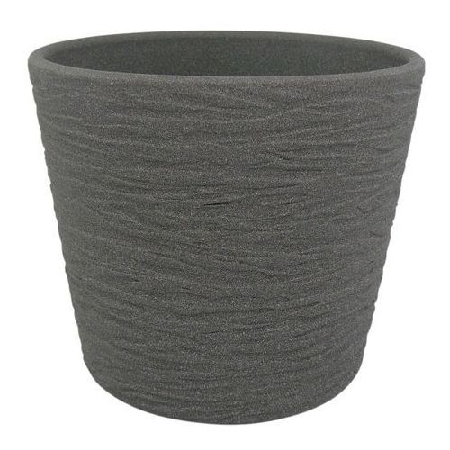 Osłonka doniczki Cermax 13 cm ciemny grafit struktura (4024856505997)