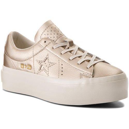 Sneakersy - one star platform ox 559924c light gold/light gold/egret marki Converse