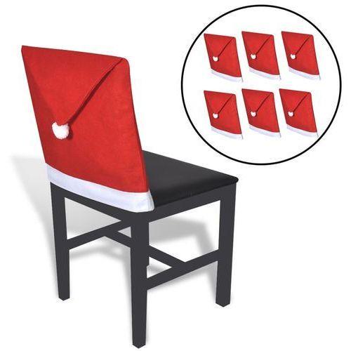 vidaXL Pokrowce na oparcia krzeseł w kształcie czapki Świętego Mikołaja
