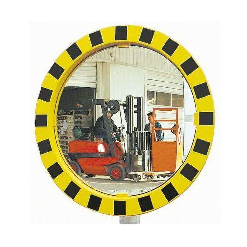 Lustra zwiększające bezpieczeństwo z żółto-czarną ramą