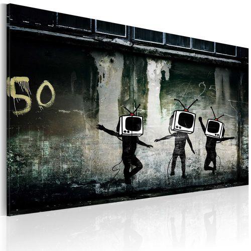 Obraz - taniec telewizyjnych głów (banksy) marki Artgeist